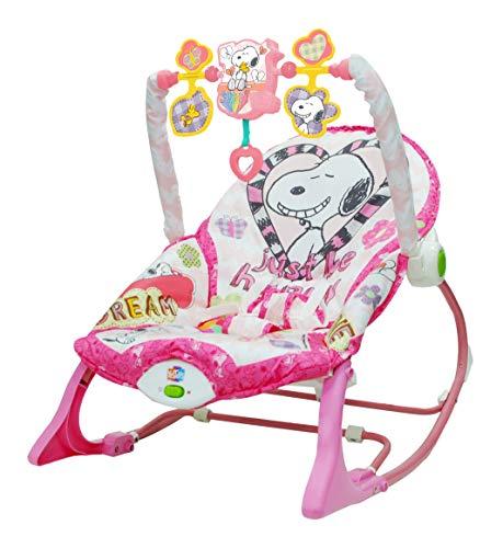 Snoopy - Cadeira De Balanço Rosa Pura Diversão Multicolorido
