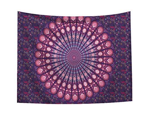 Tapiz indio Mandala Hippie tapiz colgante de pared colcha cubierta de pared decoración del hogar