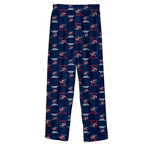Outerstuff NHL Youth Boys (4-20) Team Logo Lounge Pants, Columbus Blue Jackets Navy X-Small (6-7)