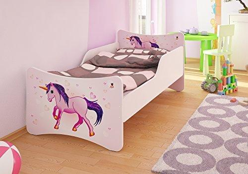 Best For Kids Kinderbett mit Schaummatratze mit TÜV Zertifiziert 90x200 cm