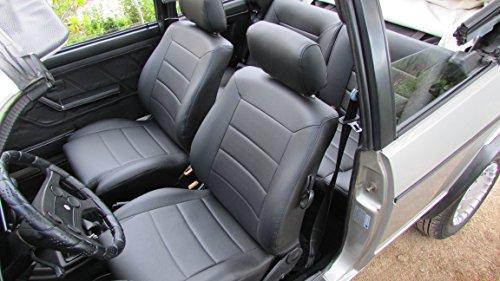 seatcovers by k-maniac Sitzbezüge Golf 1 Cabrio Vordersitze Rückbank Türverkleidungen Sitzbezug Ledersitze schwarz