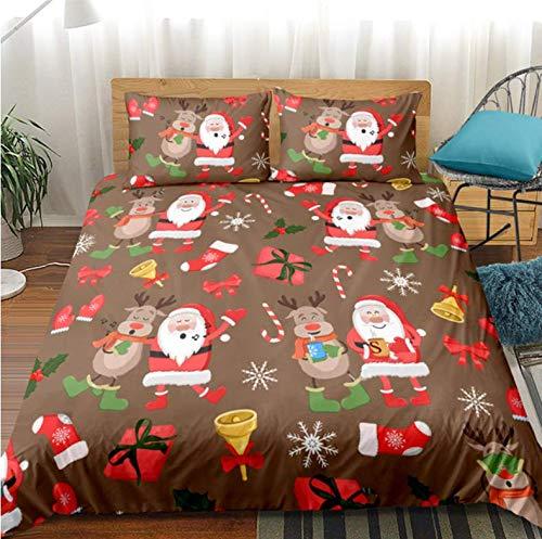 NTT Duvet Cover 3D Christmas Duvet Cover Set Kids Bedding Set With Pillowcase Twin Bed Set Comforter Sets 150 * 200Cm
