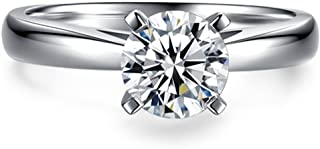1 Carat Round Brilliant CZ Sterling Silver 925 Wedding Engagement Ring Sizes 4 to 9