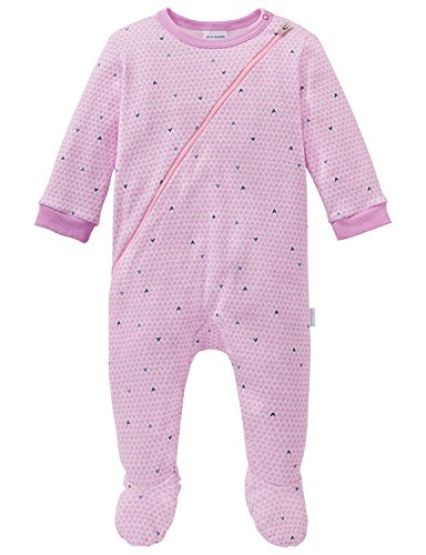 Schiesser Schiesser Baby-Mädchen Puppy Love Anzug mit Fuß Zweiteiliger Schlafanzug, Rot (Rosa 503), 62
