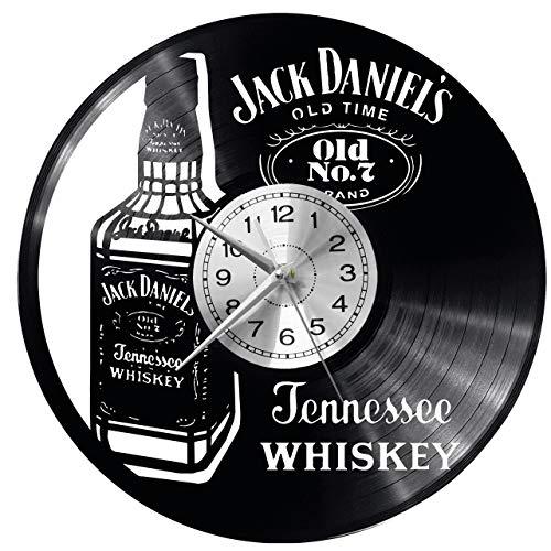 Whisky Wanduhr Uhr Vinyl Schallplatte Retro-Uhr groß Uhren Style Raum Home Dekorationen Tolles Geschenk Decor Raum Inspirierende Wand Vinyl Record Kovides Vinyl Home