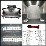 12V 40 LEDs Van Interior Light Kits,War-Horse LED Truck Bed Light LED Ceiling Lights Kit For Truck Van Caravans Trailers Lorries Sprinter Ducato Transit Boats (10 Modules, White)