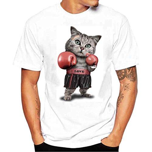 K-youth Camiseta Hombre, Gato de Boxeo...