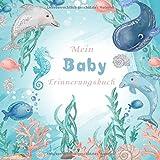 Mein Baby Erinnerungsbuch: Schönes Baby Tagebuch zum eintragen.49 Illustrierte Seiten mit viel Platz für Photos und Notizen 21,59x21,59cm