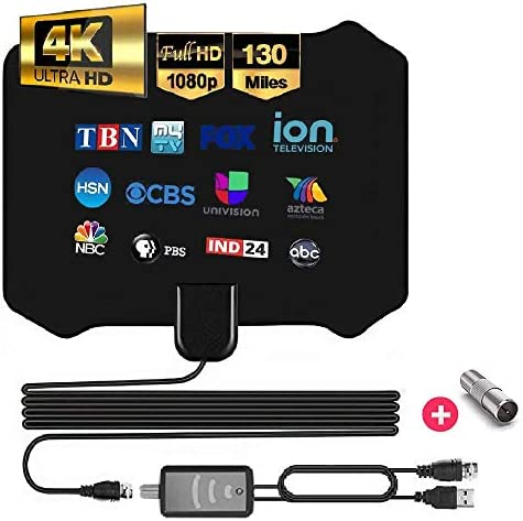 Best of 2020 Digital Indoor Tv Antenna Full HDTV Smart Amplified Rabbit Ear Antennas Crystal product image