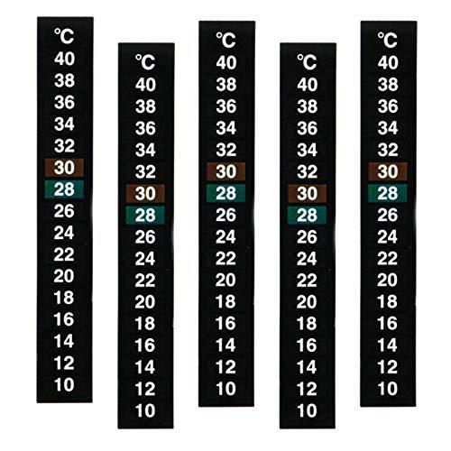 perfk 5 pièces numérique température Autocollant adhésif thermomètre Bande Aquarium thermomètre Autocollant température thermomètre Celsius Affichage pour