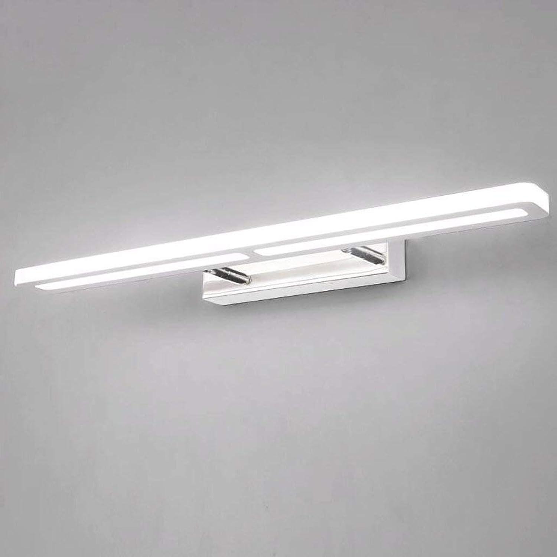 ZTMN Pride S Variable Lichtfarbe Einstellbar Edelstahl Acrylspiegel Frontleuchten Energieeffizienz A + (Gre  8w37cm)