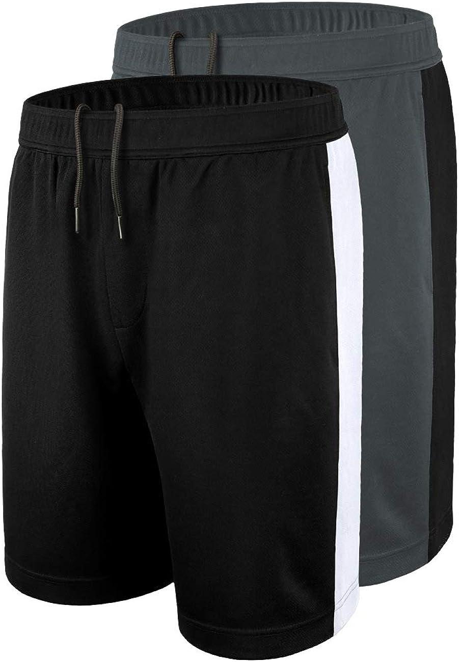 DISHANG Mens Basketball Shorts Dry Fit Mesh Gym Running Shorts with Side Pockets