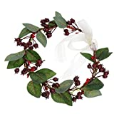 Lurrose Corona de flores corona de pelo de la Navidad Corona Floral Corona Artificial Berland...