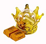 JC HUMMINGBIRD 24 Pieces Fillable Gold Crown with Dome Party Favors,