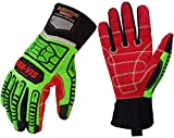 Seibertron HIGH-VIS HDC5 Level 5 Cut Resistant Deckhand Gloves High Performance Protection Impact Resistant Oil and Gas Safety Gloves CE EN388 4543 M
