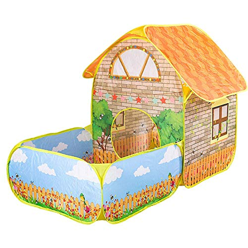 APcjerp Game Tent Children's Tent Game House Baby Toy House Ocean Ball Pool Large Space Villa Garden Interior Cabin Princess Room 156X80X108CM Hslywan