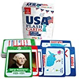 merka Flash Cards USA Set United States Presidents States Symbols Flags Facts Flashcards for Kids Ages 5-10 Picture Cards and Kids Learning Toys and Gifts (45 Presidents)