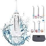 [page_title]-Munddusche Elektrische Wasser Flosser mit 5 Modi, 300ML kabellos Mundduschen mit 6 Düsen, IPX7 Oraler Irrigator, USB Wiederaufladbarer Zahnreiniger für eine Gründliche Reinigung für Zuhause und Reise
