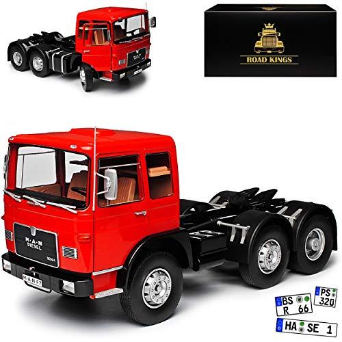 KK-Scale Road Kings Man F7 16304 1972 Rot Schwarz LKW limitiert 1 von 500 Stück 1/18 Modell Auto mit individiuellem Wunschkennzeichen