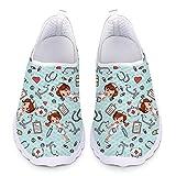 Showudesigns Trabajar Deportivos Enfermera Zapatos Sanitarios Mujer Transpirables Caminar Zapatilla para Gimnasio Tenis Zapatos cómodos y Ligeros Talla 39 EU Naranja