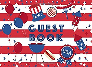 Guest Book: Patriotic Cookout Design | For parties and celebrations | Memorial Day, 4th of July and Labor Day | Great keep...
