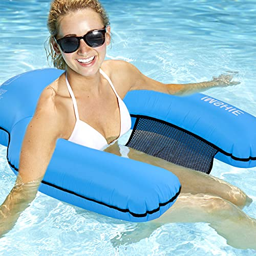 Easy Inflatable Pool Floats Chair for Adults No Pump Required, Swimming Pool U Float, U Seat Floating Chair, Beach Swim Pool Lounger Water Chair for Men&Women