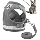 Reflective Cat Harness and Leash Set Escape Proof Kitten Puppy Dogs Vest Harness