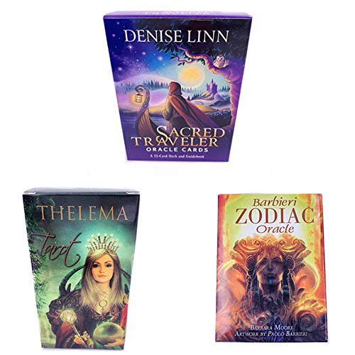 DUXIUYING Barbieri Zodiac,Sacred Traveler,Thelema Tarot 3-piece set party game, family board game