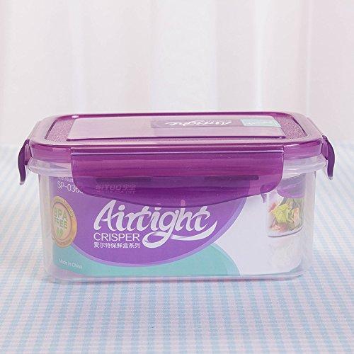 Boîte de rangement rectangulaire en plastique scellée pour réfrigérateur - Boîte de rangement transparente en plastique - 7 cm x 10,5 cm x 15 cm 600ml