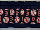 Custom Designed Boston Red Sox Valance Choose: 40', 52' or 80' Width X 13' Length with or without lining MLB Baseball navy blue
