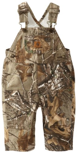 Carhartt Little Boys' Toddler Washed Work Camo Bib Overall,  Realtree Xtra,  3T