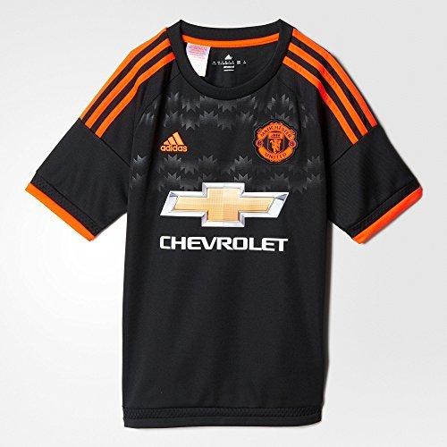 Adidas Manchester United FC 3rd Youth Jersey-BLACK, Bambino, AC1448, Nero , S
