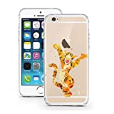 Coque AQUARELL Disney Comic Bande dessinée Compatible pour iPhone 4Aquarelle Tigre Tigrou Coque de Protection Transparent Smartphone M10