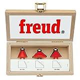 "Freud 3 Piece Chamfer Bit Set (1/2"" Shank) (89-250)"