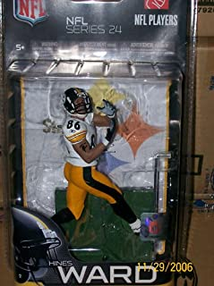 Hines Ward #86 Pittsburgh Steelers White Jersey Chase Alternate Variant McFarlane NFL Series 24 Action Figure
