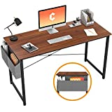 Cubiker Computer Desk 47' Home Office Writing Study Desk, Modern Simple Style Laptop Table with Storage Bag, Espresso