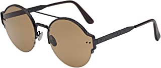Bottega Veneta Sunglasses For Unisex, Bv0013S-001-59, Brown Lens, Round Frame