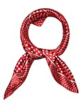 uxcell Women's Stain Print Square ScarvesKerchief Neck Scarf Red Dots