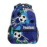 Jeansame mochila escolar bolsa de viaje para niños, niñas, mujeres, hombres, fútbol, juego abstracto