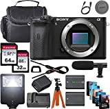 Sony Alpha a6600 Mirrorless Digital Camera 24.2MP 4K (Body Only) + 64GB & 32GB Memory Cards, Sturdy Equipment Carrying Case, Spider Tripod, Camera Flash, Software Kit and More