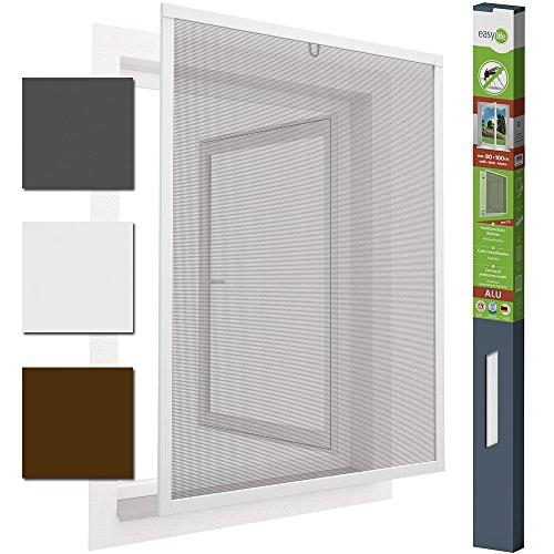 Insektenschutzfenster Alu Fliegengitter 80 x 100 cm proLINE Weiss