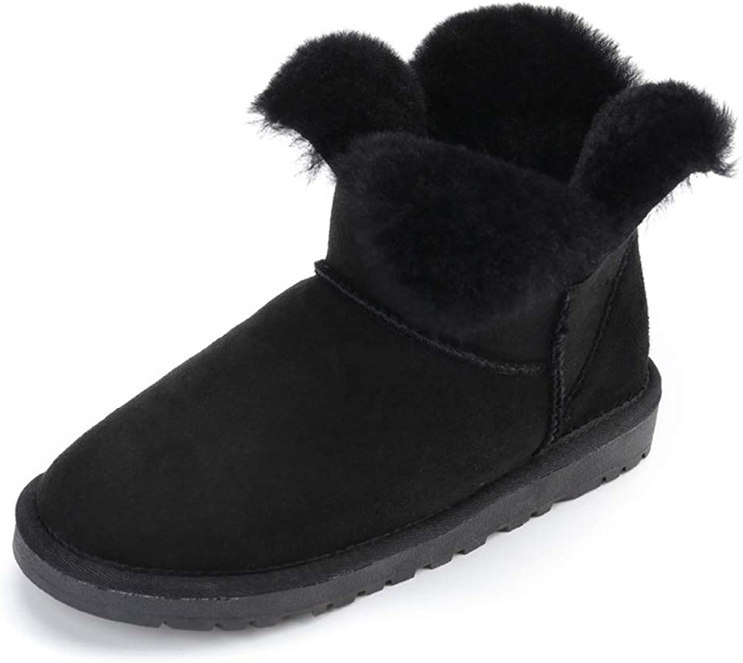 Woman Winter Ankle Snow Boots Fashion Wool Fur Girls Sheepskin Short shoes Boot