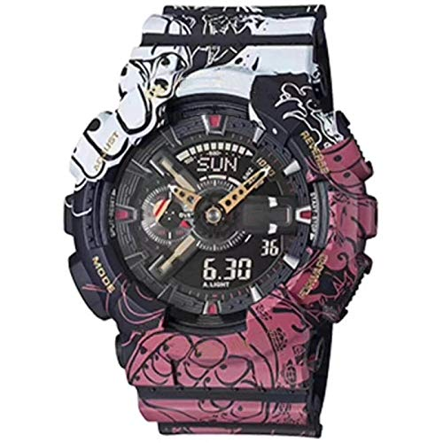 xiaoxioaguo Los hombres y las mujeres de doble pantalla de deportes reloj de lujo G-tipo digital reloj de los hombres multifunción vibración reloj de las señoras ingenioso