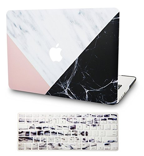 KECC Laptop Case for MacBook Pro 15' (2019/2018/2017/2016) w/Keyboard Cover Plastic Hard Shell...