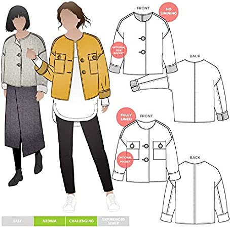 Style Arc Ladies Sewing Pattern Harriet Jacket