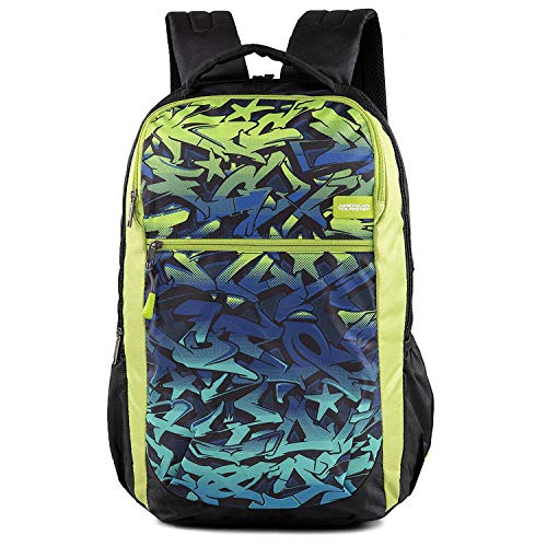 American Tourister Tango Nxt 01 Black Lime Casual Backpack