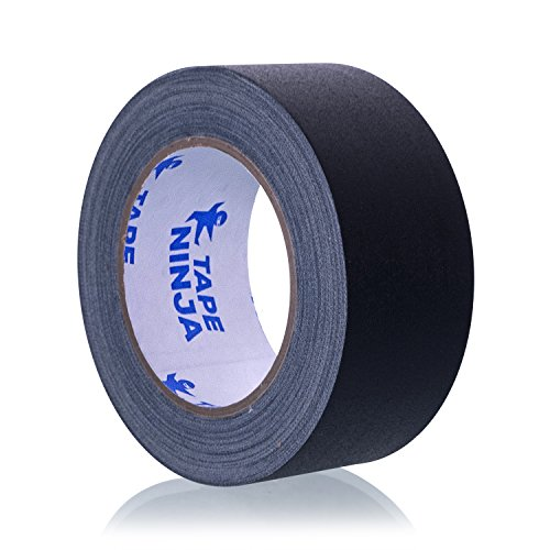 Professional Grade Gaffer Tape by Tape Ninja - Made in The USA - Black 2 Inch X 30 Yards - Heavy Duty Real Gaffer's Tape - Non-Reflective - Waterproof - Order Risk Free - Better Than Duct Tape!