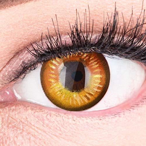 Farbige Braune Kontaktlinsen Anime Brown Circle Lenses Heroes Of Cosplay Stark Deckend Ohne Stärke mit gratis Linsenbehälter