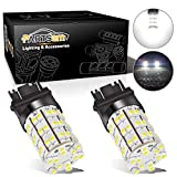 Partsam 3157 3156 4114 Daytime Running Light Bulbs DRL Driving Light 60LED 3528-SMD 6000K Xenon White Ultra Bright Car Led Bulbs (Pack of 2)
