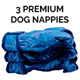Pet Impact waschbare Windeln für Hunde und Katzen, wiederverwendbar, 3 Stück